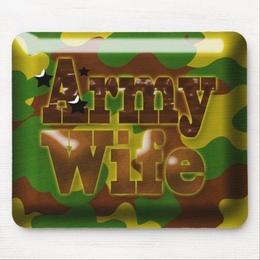 Camuflaje Mousepad de la esposa del ejército
