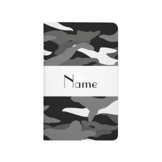Camuflaje negro conocido personalizado cuadernos grapados