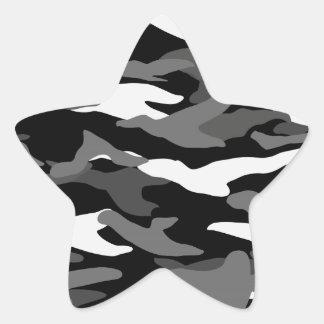 Camuflaje negro pegatina en forma de estrella