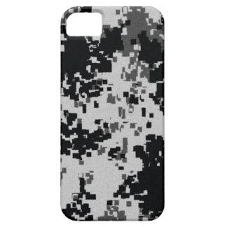 Camuflaje negro y blanco de Digitaces iPhone 5 Funda
