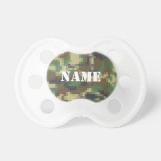 Camuflaje personalizado del pixel chupetes de bebe