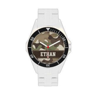 Camuflaje personalizado reloj