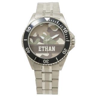 Camuflaje personalizado relojes de mano