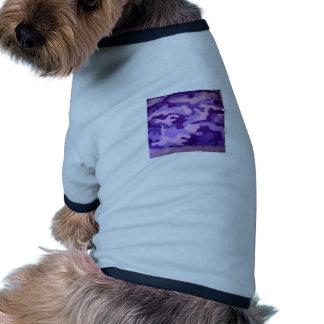 camuflaje púrpura camiseta con mangas para perro