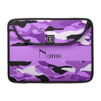 Camuflaje púrpura en colores pastel conocido fundas para macbook pro