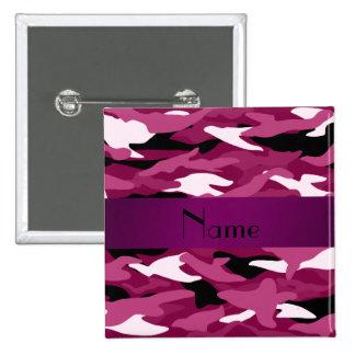 Camuflaje púrpura personalizado del ciruelo conoci pin cuadrada 5 cm