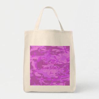 Camuflaje purpúreo claro bolsa tela para la compra