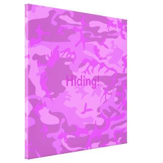 Camuflaje purpúreo claro impresión en lienzo