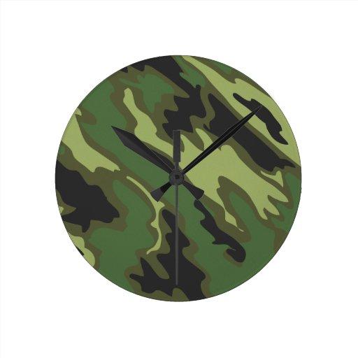 Camuflaje Reloj Redondo Mediano