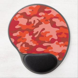 Camuflaje rojo alfombrilla de ratón con gel
