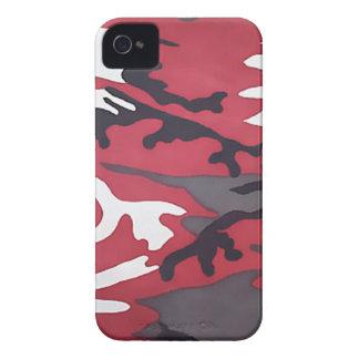 Camuflaje rojo iPhone 4 carcasa