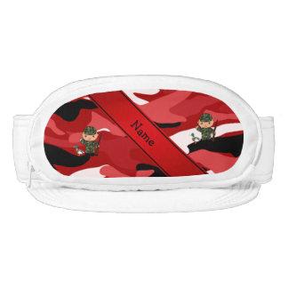 Camuflaje rojo personalizado del cazador conocido visera