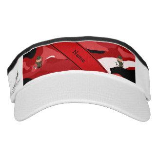 Camuflaje rojo personalizado del cazador conocido viseras de alto rendimiento