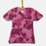 Camuflaje rosado adornos