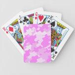 Camuflaje rosado baraja de cartas