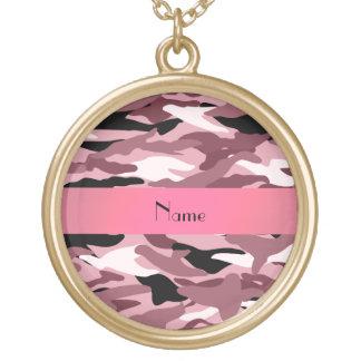 Camuflaje rosado bonito conocido personalizado pendientes