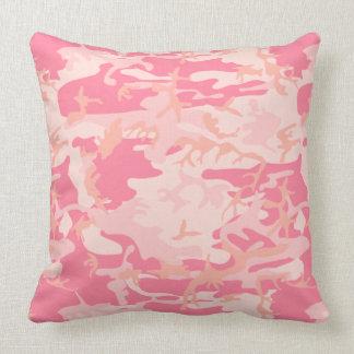 Camuflaje rosado almohadas