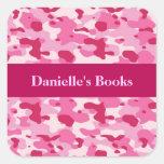 Camuflaje rosado colcomanias cuadradass