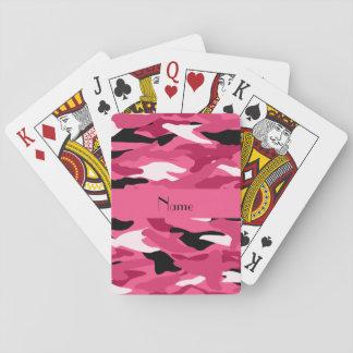 Camuflaje rosado conocido personalizado cartas de juego