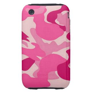 Camuflaje rosado de encargo de Africankoko Carcasa Though Para iPhone 3