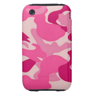 Camuflaje rosado de encargo de Africankoko iPhone 3 Tough Protectores