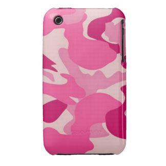 Camuflaje rosado de encargo de Africankoko iPhone 3 Cárcasas