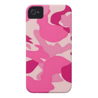 Camuflaje rosado de encargo de Africankoko iPhone 4 Case-Mate Coberturas