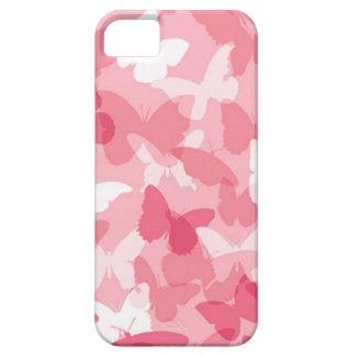 Camuflaje rosado de la mariposa iPhone 5 carcasas
