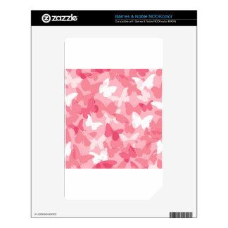 Camuflaje rosado de la mariposa skin para el NOOK color
