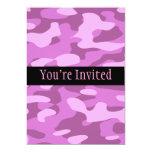 Camuflaje rosado femenino invitación 12,7 x 17,8 cm