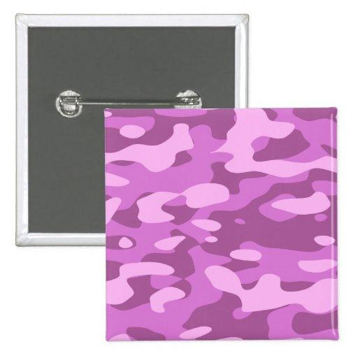 Camuflaje rosado femenino pin