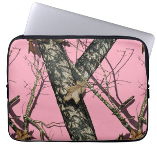 Camuflaje rosado mangas computadora