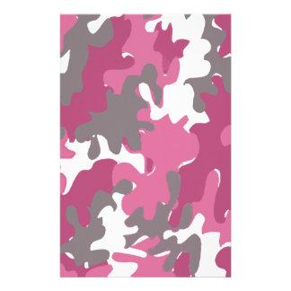 camuflaje rosado para la mujer militar fuerte papelería personalizada