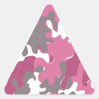 camuflaje rosado para la mujer militar fuerte calcomanía trianguladas personalizadas