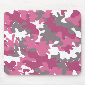 camuflaje rosado para la mujer militar fuerte tapete de raton