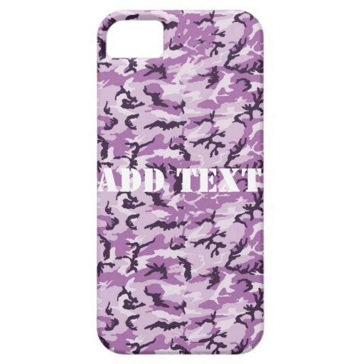 Camuflaje rosado/púrpura del arbolado iPhone 5 cobertura