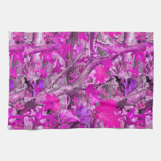 Camuflaje rosado toallas