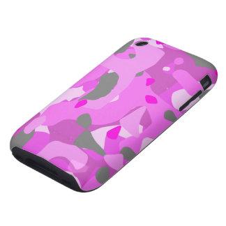 Camuflaje rosado tough iPhone 3 carcasa
