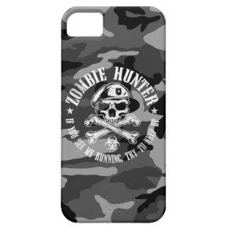 camuflaje urbano del cazador del zombi funda para iPhone 5 barely there