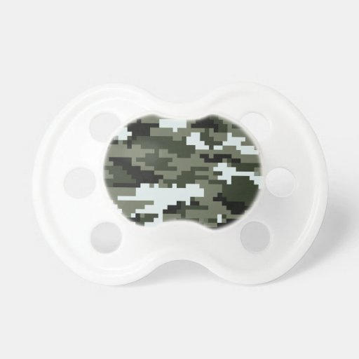 Camuflaje urbano del pixel de 8 pedazos chupete de bebe