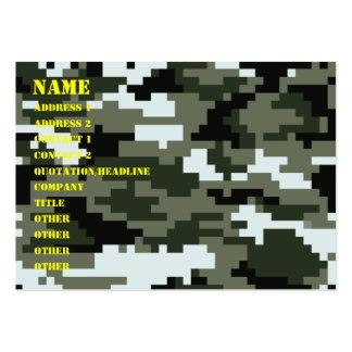 Camuflaje urbano del pixel de 8 pedazos tarjetas de visita grandes