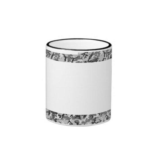 Camuflaje urbano - negro y gris - con blanco tazas