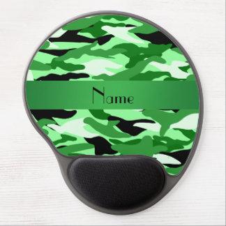 Camuflaje verde claro conocido personalizado alfombrillas de ratón con gel