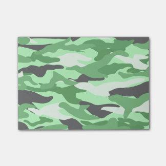 Camuflaje verde claro notas post-it