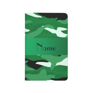 Camuflaje verde conocido personalizado cuadernos