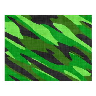 camuflaje verde del ejército de la selva tarjetas postales