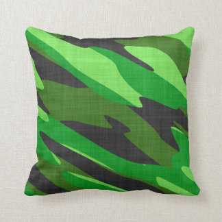 camuflaje verde del ejército de la selva texturiza cojin