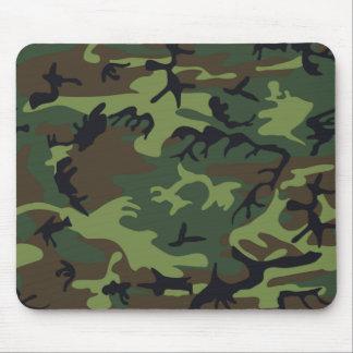 Camuflaje verde militar alfombrillas de raton