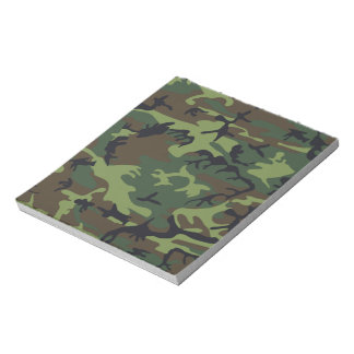 Camuflaje verde militar blocs de papel