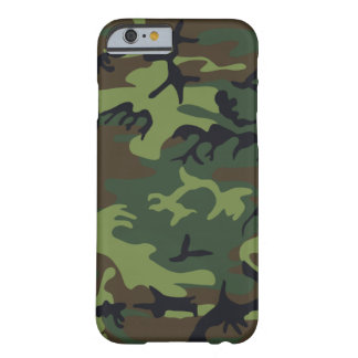 Camuflaje verde militar funda para iPhone 6 barely there